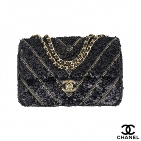 Chanel Chevron sequin bag